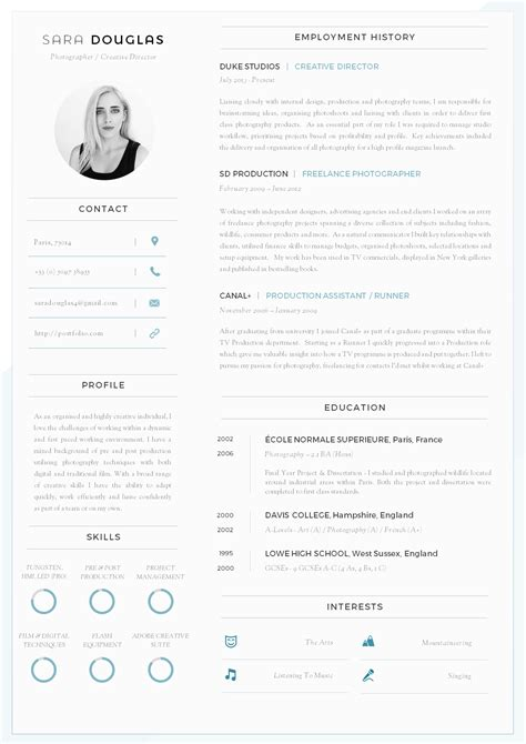 Resume Cv Template by 43 Modern Resume Templates Guru