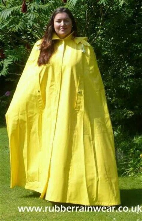 Yellow Rubberised Cape Worn By The Gorgeous Ayshea D