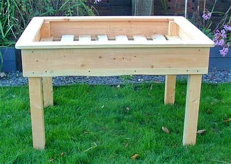 raised garden bed plans on legs woodideas