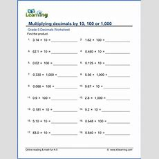 Fifth Grade Math Worksheets  Free & Printable  K5 Learning