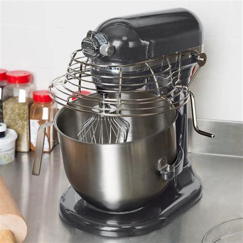 pewter kitchenaid  qt commercial mixer bowl guard