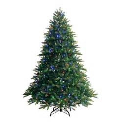 shop ge 7 5 ft pre lit fir artificial christmas tree with color changing led lights at lowes com