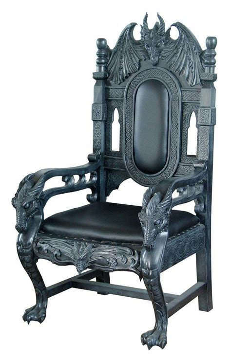 black dragon chair  delightfully gothic house