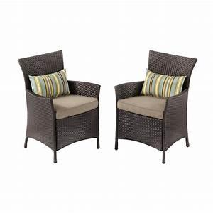 hampton bay tacana stationary wicker outdoor dining chair With home depot hampton bay wicker furniture