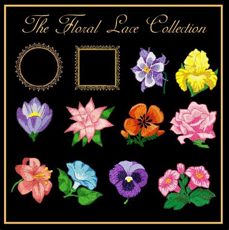 floral lace collection machine embroidery designs  golden needle designs top