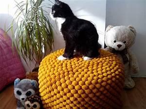 Pouf Tricot Jaune : les 25 meilleures id es de la cat gorie pouf en crochet sur pinterest mod le de pouf en ~ Teatrodelosmanantiales.com Idées de Décoration