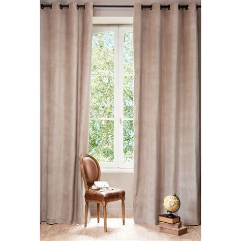 rideau chambre bébé fille rideau à œillets en velours et beige 140 x