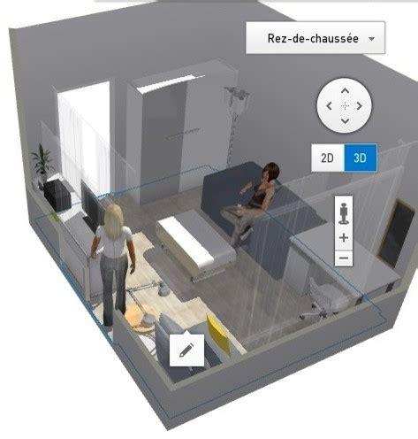 aménagement studio la pièce à vivre 13m2