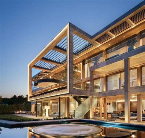 million newly built modern mega mansion  bel air california homes   rich