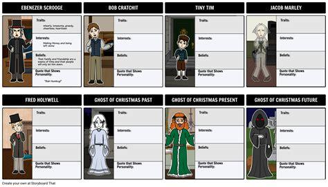 christmas carol characters storyboard  angeline