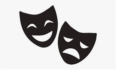 Masks Theatre Cartoon Mask Arts Clipart Performing