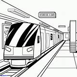 Subway Train Coloring Metro Drawing Printable Getcolorings Getdrawings Popular sketch template