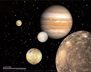 Four Moons around Jupiter - Pics about space