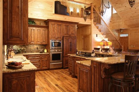 cabin style kitchen cabinets rustic cabin style rustic kitchen charlotte by