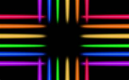 Neon Glow Line Colorful Iridescent 4k Background
