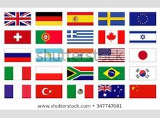 Vector Flags World Icons Flags Flat Stock Vector Royalty