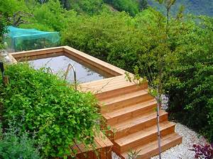 Piscine Hors Sol : fabricant piscine et jacuzzi spa sur mesure 100 bois ~ Melissatoandfro.com Idées de Décoration