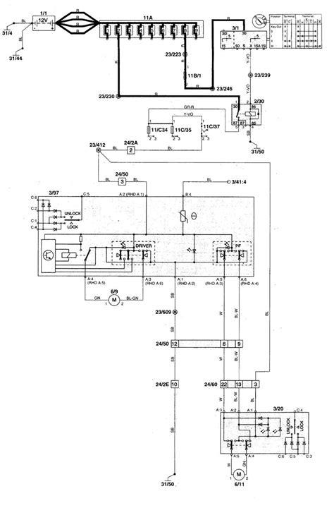 volvo c70 1998 2004 wiring diagrams power windows carknowledge