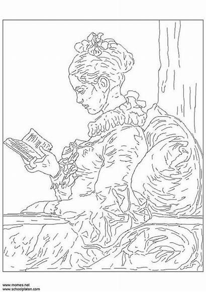 Coloring 스케치 색칠 Fragonard 공부 Edupics 출처