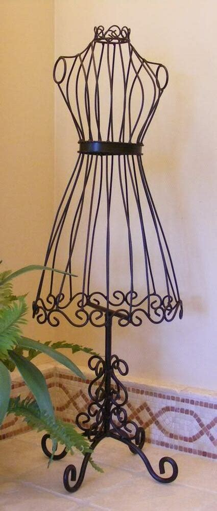 mannequin dress form wrought iron  jewelry stand metal
