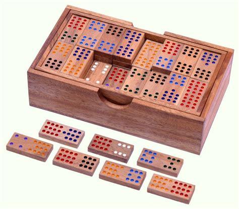 Le Mit Holz by Domino Doppel 12 Legespiel Gesellschaftsspiel Aus Holz