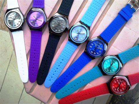 Tali Jam Tangan Rubber Karet jual baru jam tangan swatch tali rubber karet warna ungu