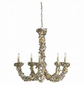 Menorca delicate oyster shell light chandelier kathy