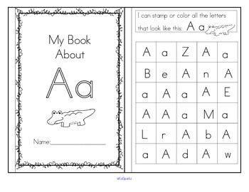 Alphabet Booklets  6 Handson Recognition Activities For Each Letter  Preschool, Prek And