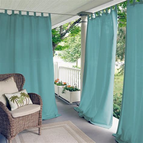 elrene matine solid tab top indooroutdoor window curtain