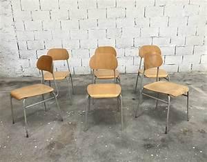 Chaise D école : chaises d 39 cole tcheque vintage ~ Teatrodelosmanantiales.com Idées de Décoration