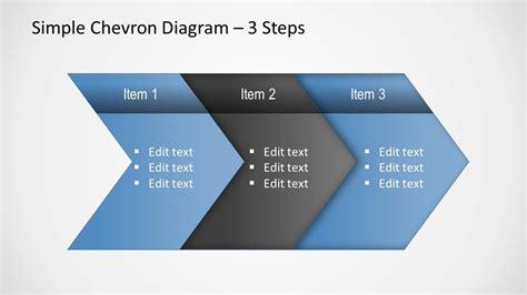 simple chevron diagram  powerpoint slidemodel