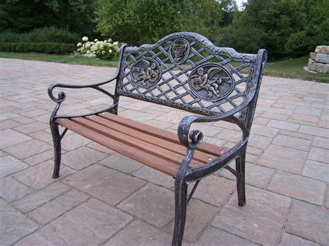 oakland living cast iron garden decorative kid sized bench
