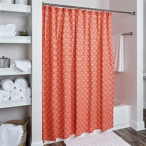 moroccan shower curtain rizzy home moroccan shower curtain bed bath beyond