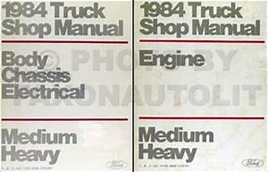 1984 Ford Medium Heavy Truck Original Service Specifications Book
