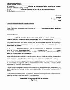 Declaration De Sinistre Auto : lettre de d claration de sinistre apr s chantier pour un ~ Gottalentnigeria.com Avis de Voitures