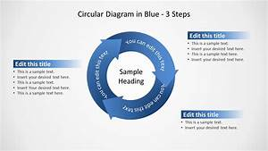 Blue Circular Diagram 3 Steps For Powerpoint
