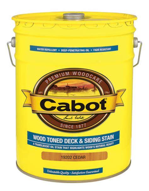 cabot cedar  voc wood toned deck siding stain  gal