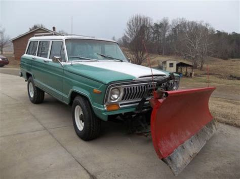 1977 jeep cherokee chief sell used 1977 jeep cherokee chief with snow plow in