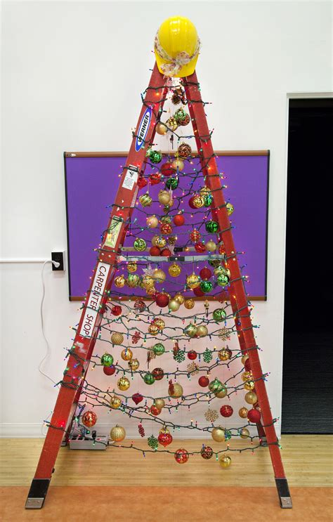 facilities steps   holiday spirit  christmas ladder