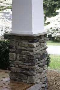 Craftsman Style Stone Porch Columns