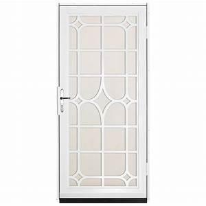 unique home designs 36 in x 80 in lexington white With unique home designs screen door