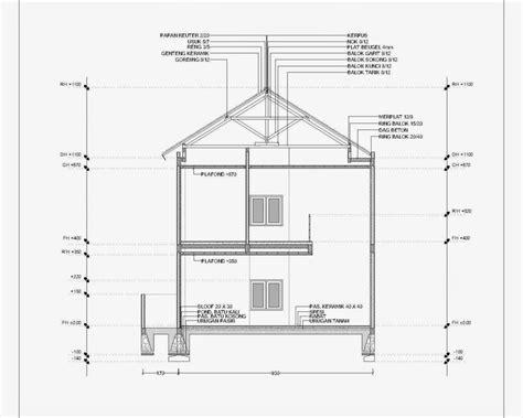 contoh gambar potongan rumah minimalis menggunakan autocad