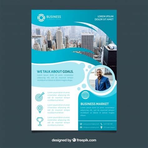 Business Brochure In A5 Size With Flat Style Vector
