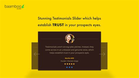 Wow Visitors With Stunning Testimonials