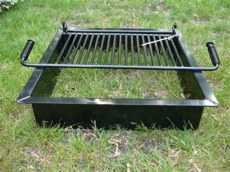 masonry outdoor fireplace steel pit inserts square station