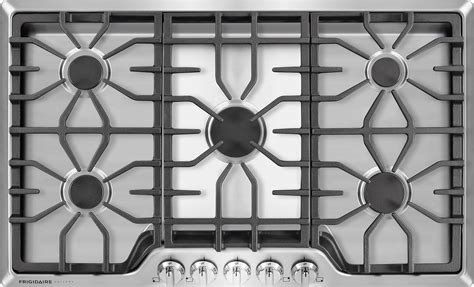 frigidaire fggcqs   gas cooktop   sealed burners continuous cast iron grates