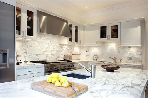 Arabescato Oro Vagli Marble Countertops   Contemporary