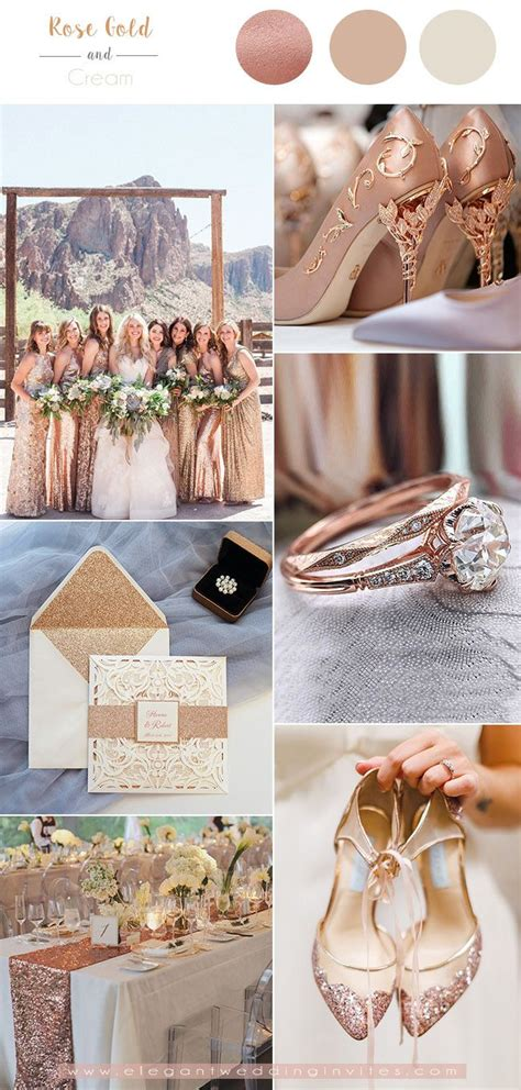 7 Classic Metallic Theme Wedding Colors with Glittery