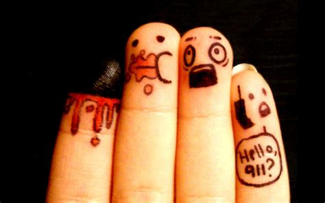 gambar jari jari  ekspresi lucu