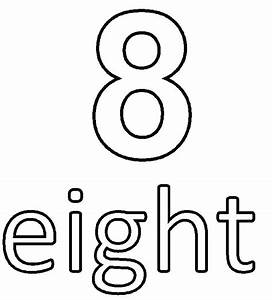 Free coloring pages of number 8 number 8